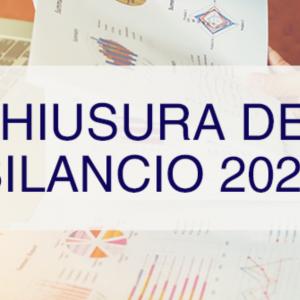CHIUSURA DEL BILANCIO PER L'ANNO 2020, PRIME RIFLESSIONI DA FARE