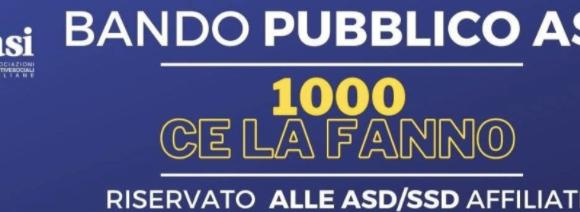 """BANDO DI GARA PROGETTO ASI """"1000 CE LA FANNO"""""""