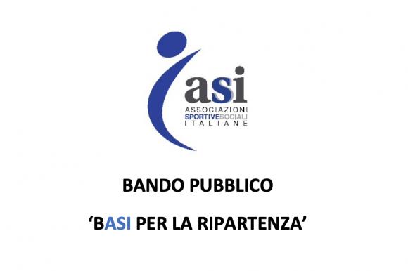 """BANDO PUBBLICO """"BASI PER LA RIPARTENZA"""""""