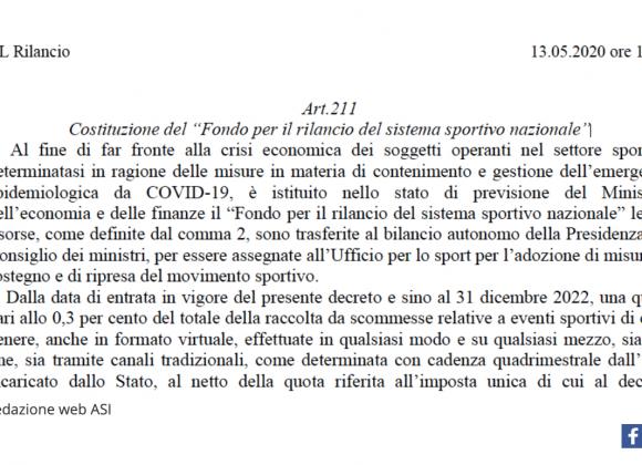 """DECRETO """"RILANCIO ITALIA"""". QUELLO CHE E' STATO FATTO E QUELLO CHE ANCORA MANCA"""