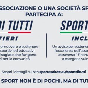 BANDI SPORT E SALUTE: LO SPORT NON E' DI POCHI, MA DI TUTTI